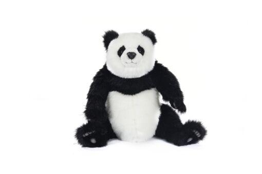 Mooie XL Zwarte Panda welp zittend knuffel  48 cm kopen