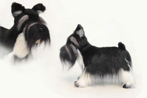 Mooie Zwarte Miniatuur schnauzer knuffel  45 cm kopen