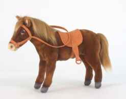 Mooie Bruine Paard met zadel knuffel  37 cm kopen