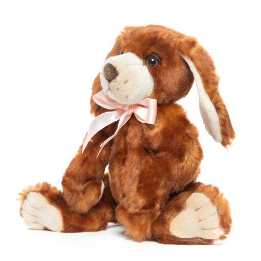 Mooie Roodbruine hond geleed knuffel  22 cm kopen