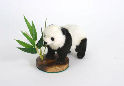 Mooie Zwarte Panda bevestigd op knuffel  18 cm kopen