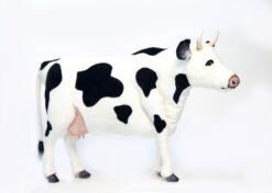 Mooie XL Zwarte Friese koe decoratie  119 cm kopen