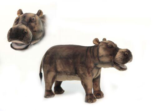 Mooie XL Bruine Nijlpaard poef  woonkamer 80 cm kopen