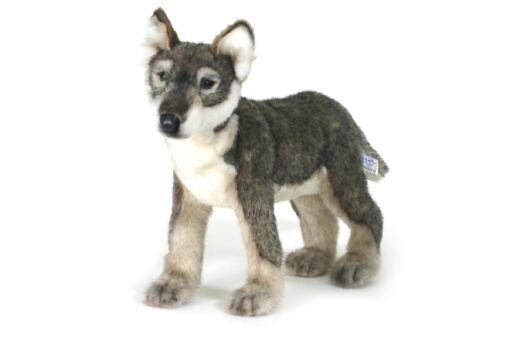 Mooie Witte Wolf pup staand knuffel  42 cm kopen