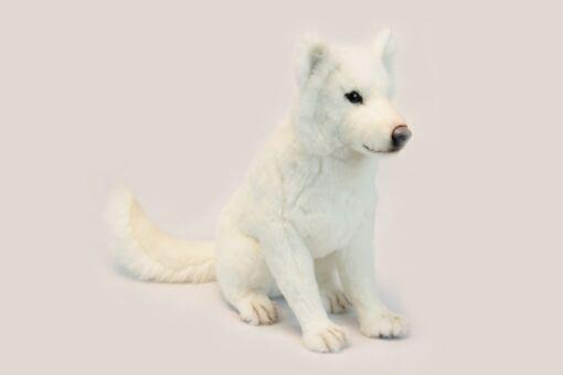 Mooie Zwarte Hokkaido hond zittend knuffel  60 cm kopen