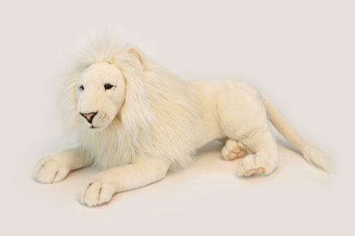 Mooie XL Witte Witte leeuw mannetje knuffel  65 cm kopen