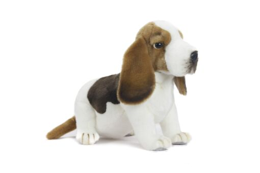 Mooie Witte Basset hond knuffel  45 cm kopen