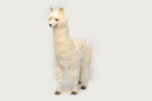 Mooie XL Witte Alpaca wit zonder accs. decoratie  165 cm kopen