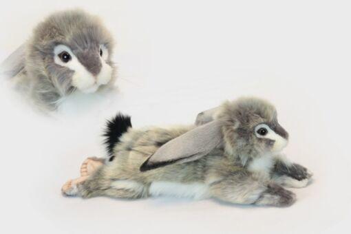 Mooie Witte Konijntje grijs slappe oren knuffel  40 cm kopen