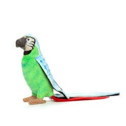 Mooie Blauwe Papegaai groen lijf knuffel  37 cm kopen