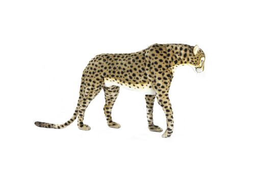 Mooie XL Goudgele Cheeta patroon staand decoratie  125 cm kopen