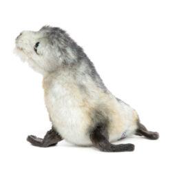 Mooie Grijze Kaapse pelsrob pup knuffel  26 cm kopen