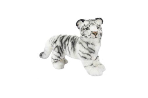 Mooie Witte Bengaalse tijger staand textiel knuffel  40 cm kopen