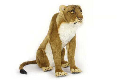 Mooie XL Witte Leeuwin zittend decoratie  90 cm kopen