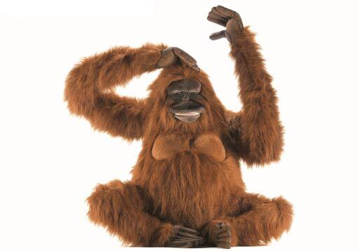Mooie XL Roodbruine Orang-oetan ware grootte decoratie  100 cm kopen