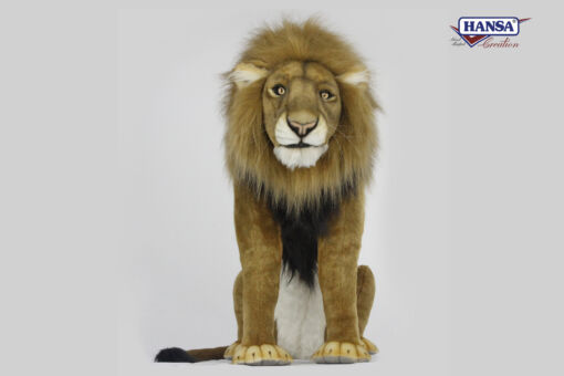 Mooie XL Witte Leeuw mannetje zittend decoratie  94 cm kopen