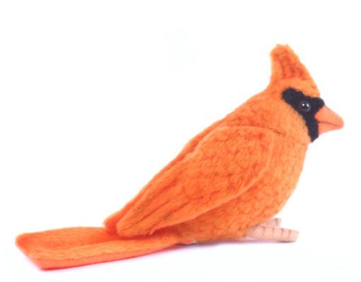 Mooie Oranje Rode kardinaal knuffel  9 cm kopen