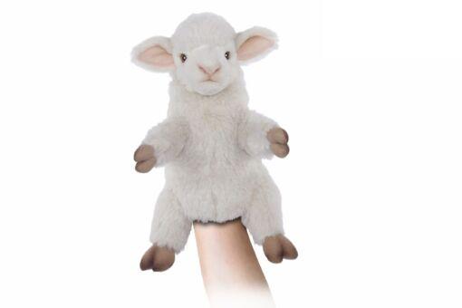 Mooie Witte Lam handpop knuffel  27 cm kopen
