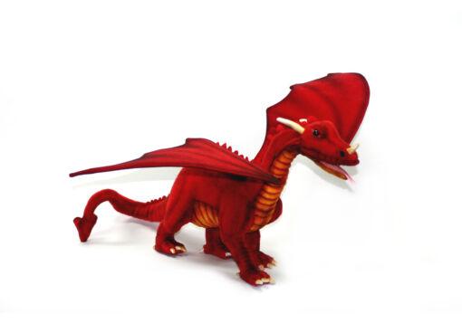 Mooie XL Rode Grote draak rood knuffel  58 cm kopen