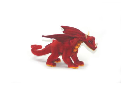 Mooie Rode Grote draak miniatuur rood knuffel  30 cm kopen
