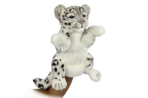 Mooie Witte Sneeuwpanter handpop knuffel  32 cm kopen