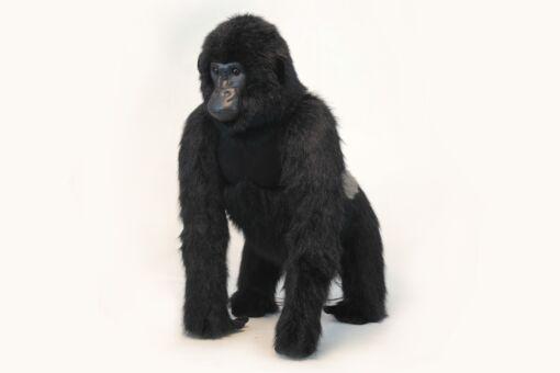 Mooie XL Zwarte Zilverrug gorilla staand decoratie  98 cm kopen