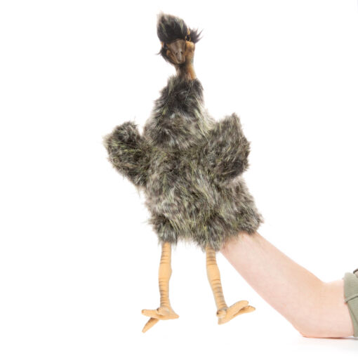 Mooie Zwarte Emoe handpop knuffel  33 cm kopen