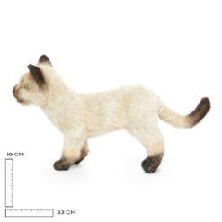 Mooie Donkere Siamese kat kitten knuffel  33 cm kopen