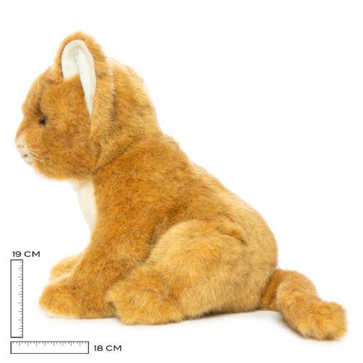Mooie Witte Leeuw welp bruin knuffel  17 cm kopen