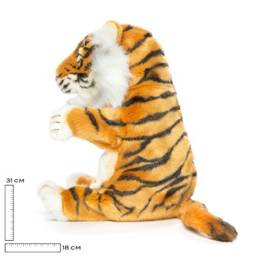 Mooie Witte Tijger handpop L knuffel  37 cm kopen