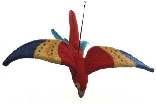Mooie Blauwe Geelvleugelara vliegend .W decoratie  75 cm kopen