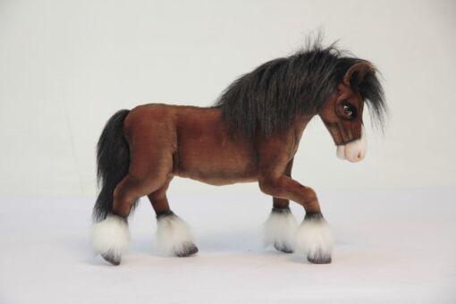 Mooie Bruine Clydesdale paard knuffel  50 cm kopen