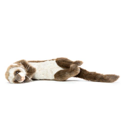 Mooie Bruine Fret liggend knuffel  28 cm kopen