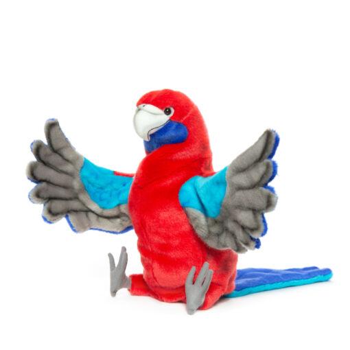 Mooie Rode Pennantrosella handpop knuffel  50 cm kopen