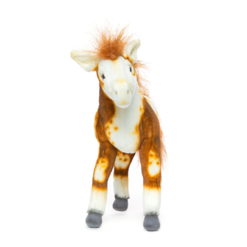 Mooie Roodbruine Pinto veulen miniatuur knuffel  28 cm kopen