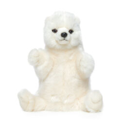Mooie Witte IJsbeer handpop knuffel  31 cm kopen