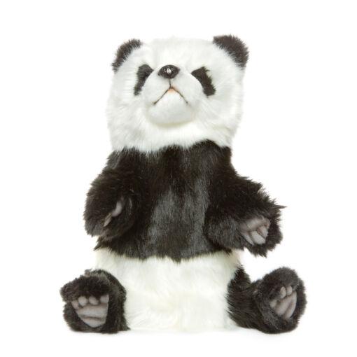 Mooie Zwarte Panda handpop knuffel  30 cm kopen