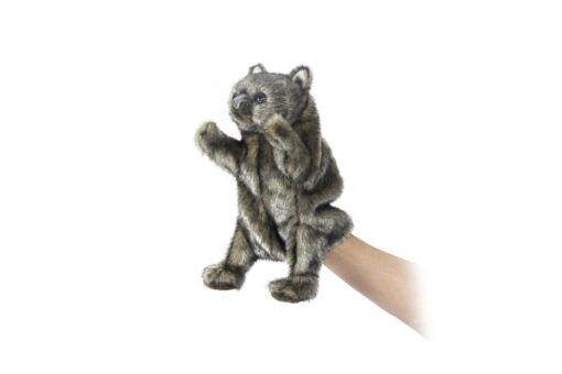 Mooie Bruine Wombat handpop knuffel  23 cm kopen