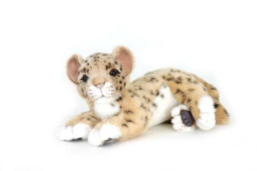 Mooie Witte Luipaard welp liggend  26 cm kopen