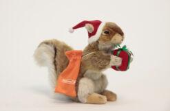 Mooie Witte Eekhoorn met rode kerstmuts, tas & cadeautje  34 cm kopen