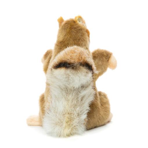 Mooie Witte Eekhoorn handpop knuffel  35 cm kopen