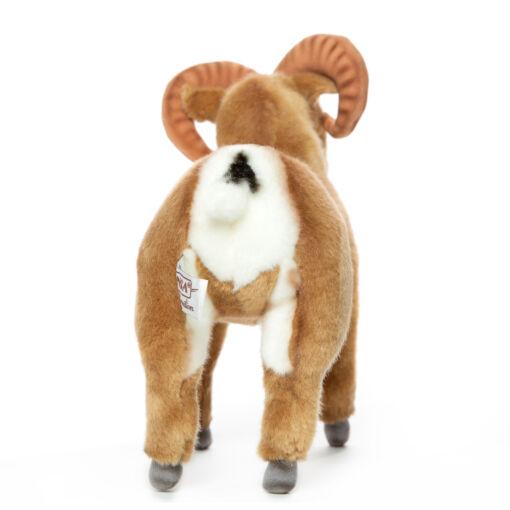 Mooie Roodbruine Dikhoornschaap knuffel  25 cm kopen