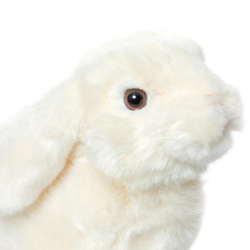 Mooie Witte Hangoor konijn . H knuffel  32 cm kopen