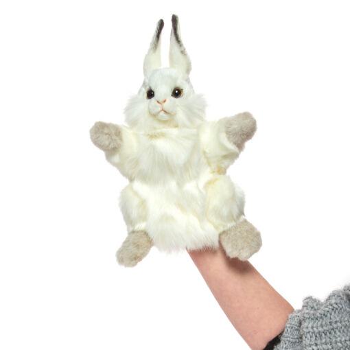 Mooie Witte Wit konijn handpop knuffel  34 cm kopen