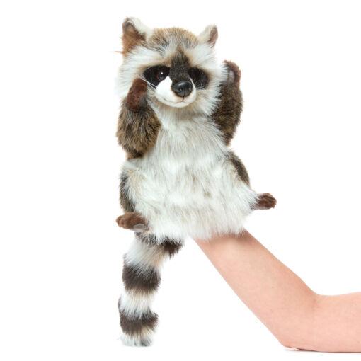 Mooie Zwarte Wasbeer handpop knuffel  50 cm kopen