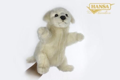 Mooie Witte Berghond van de Maremmen handpop  28 cm kopen