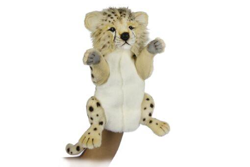 Mooie Witte Cheeta handpop  32 cm kopen