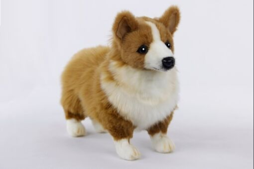 Mooie Goudgele Corgi hond knuffel  27 cm kopen