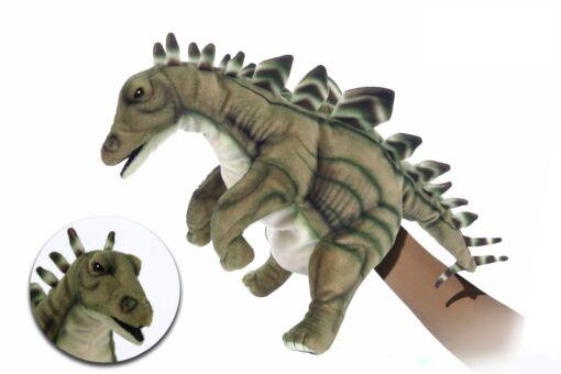 Mooie Grijze Stegosaurus handpop  40 cm kopen