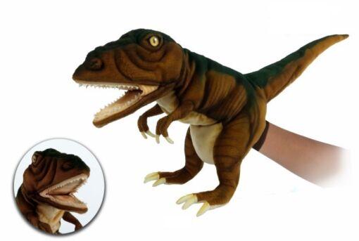 Mooie Creme Tyrannosaurus handpop roestbruin bruin knuffel  50 cm kopen